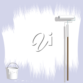 Royalty Free Clipart Image of a Paint Roller