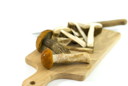 Royalty Free Photo of Mushrooms on a Cutting Board