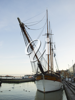 Sailing vessel in the center of Helsinki, Finland