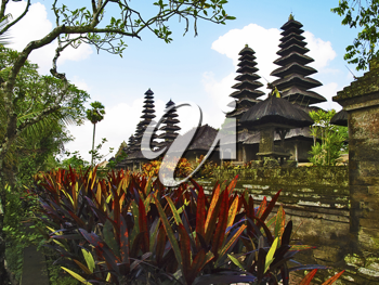 Taman Ayun Temple traditional roofs, Mengwi, Bali, Indonesia