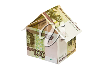 Royalty Free Photo of a House Made With Rubles