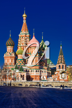 Royalty Free Photo of St. Basil's Cathedral in Russia