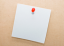 Royalty Free Photo of Note Paper and Tack