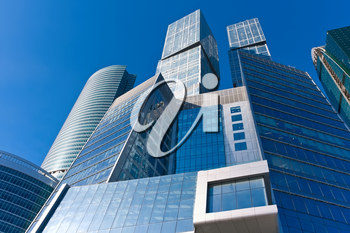 Modern scyscrapers of Moscow city business center