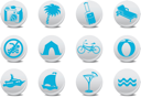 Royalty Free Clipart Image of Tourism Icons