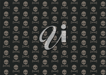 Royalty Free Clipart Image of a Skull Background