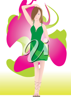 Royalty Free Clipart Image of a Woman