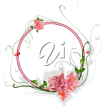 Royalty Free Clipart Image of a Floral Border