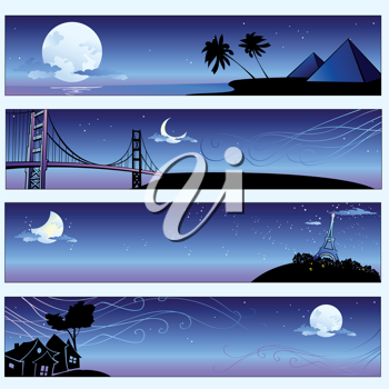 Royalty Free Clipart Image of Travel Banners