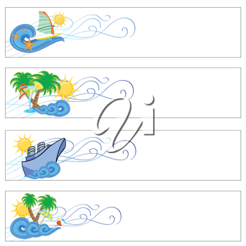 Royalty Free Clipart Image of a Holiday Banner Set