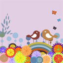 Royalty Free Clipart Image of an Abstract Nature Background