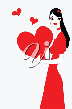 Royalty Free Clipart Image of a Valentine's Day Greeting Card
