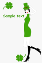 Royalty Free Clipart Image of a  St. Patrick's Day Card