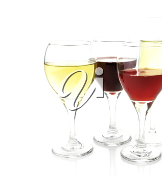Royalty Free Photo of Glasses of Wine