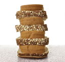 Royalty Free Photo of a Stack of Bread