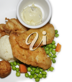 Fried Fish Ahd Scallops With Vegetables