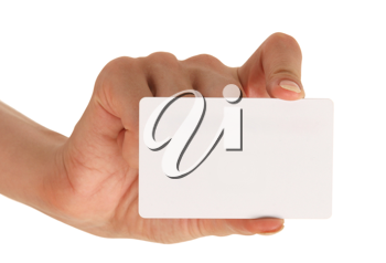 Blank businesscard in hand