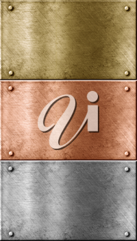 Royalty Free Photo of a Set of Metal Plates