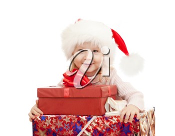 Royalty Free Photo of a Little Girl With Presents