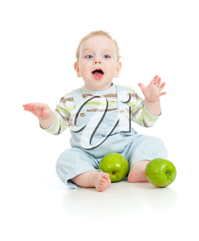 Royalty Free Photo of a Baby With Apples