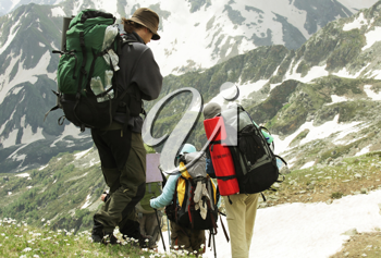 Royalty Free Photo of Backpackers