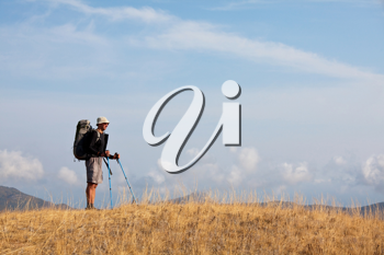 Royalty Free Photo of a Backpacker