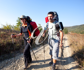 Royalty Free Photo of a Couple Hiking