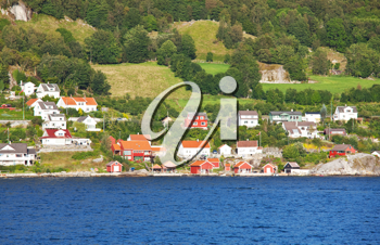Royalty Free Photo of a Houses in Norway