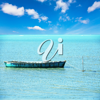 Royalty Free Photo of a Boat in the Sea