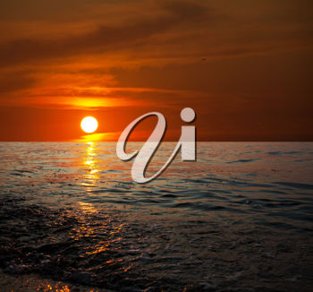 Royalty Free Photo of a Beach Sunset