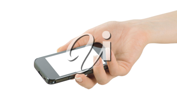 Royalty Free Photo of a Person Holding a Smartphone