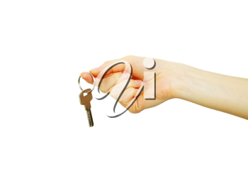 Royalty Free Photo of a Person Holding Keys