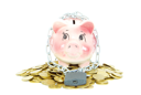Royalty Free Photo of a Piggy Bank With a Padlock