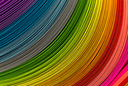 Paper strips in rainbow colors as a colorful backdrop