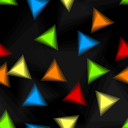Royalty Free Clipart Image of an Abstract Triangular Background