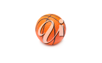 Orange basket ball, photo on the white background