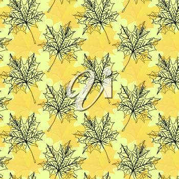 Royalty Free Clipart Image of a Maple Leaf Background