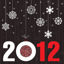New Year brown background with a sphere. A vector illustration