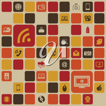 Background from computer details. A vector illustration
