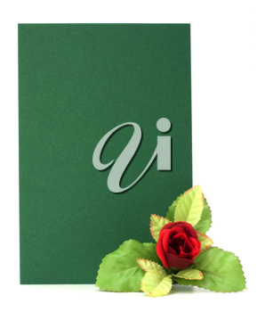 Gift with floral decor. Flowers are artificial.