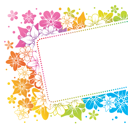 Royalty Free Clipart Image of a Floral Banner