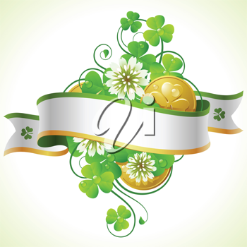 Royalty Free Clipart Image of a St Patricks Day Banner