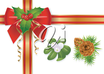 Royalty Free Clipart Image of Christmas Elements