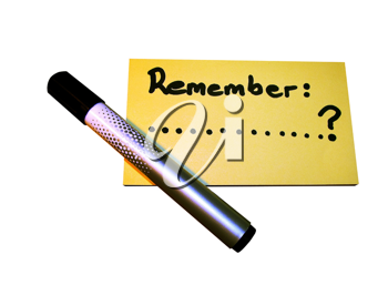 Royalty Free Photo of a Reminder Note