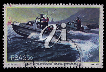 Royalty Free Photo of a Harbour Patrol Stamp