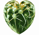 Love Hurts Isolated Heart Shape with Thorny Plant Texture VB