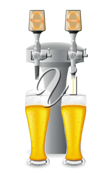 Royalty Free Clipart Image of a Beer and Taps