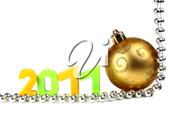 decorations for new year and christmas isolated on white background