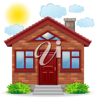 small country house vector illustration isolated on white background