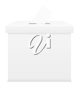 ballot box for election voting vector illustration isolated on white background